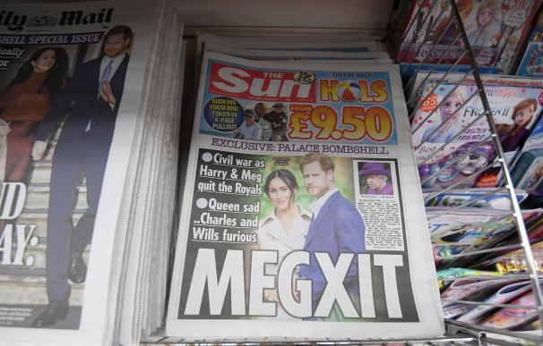 Meghan y Enrique en la prensa británica