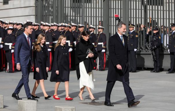 La familia real y Pedro Sánchez
