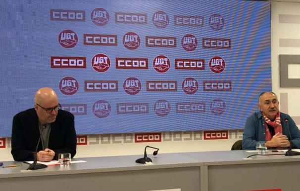 Foto de Unai Sordo y Pepe Álvarez / UGT