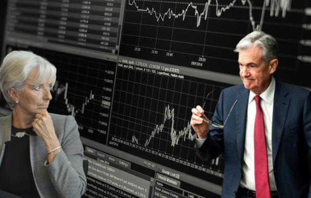 Lagarde y Powell, en primera línea de la crisis económica.